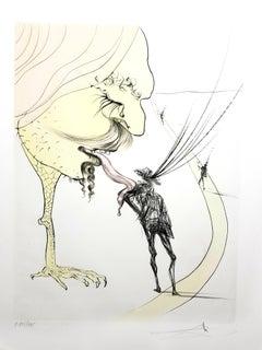 Salvador Dali - Picasso: A Ticket to Glory - Original Signed Engraving