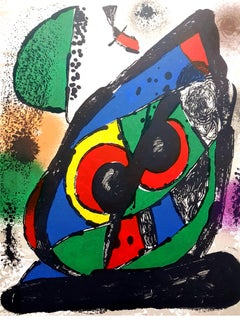 """Original Abstract Lithograph from """"Lithographe IV"""""""