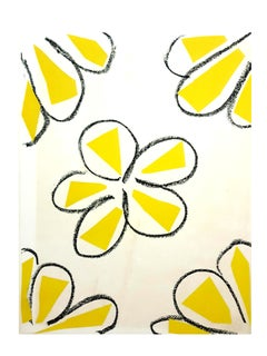 Original Linocut - Henri Matisse - Yellow Flowers