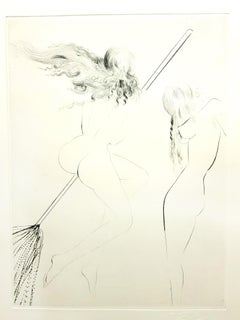 Salvador Dali - Flying Witch, from Faust - Original Etching