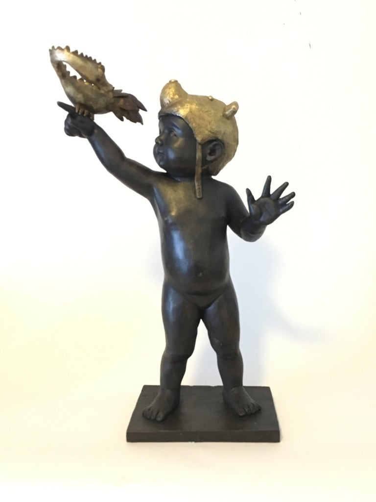 Everything is Possible - Bronze - Signed Sculpture - Francesca Dalla Benetta