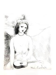 Marie Laurencin - Woman Angel - Original Etching