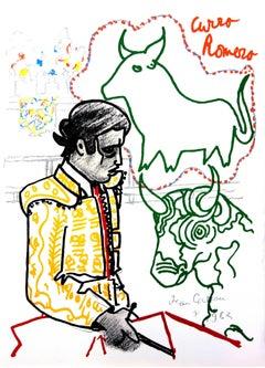 Jean Cocteau - Bulls - Original Lithograph