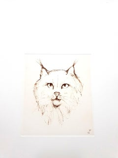Leonor Fini - Cat - Original Etching