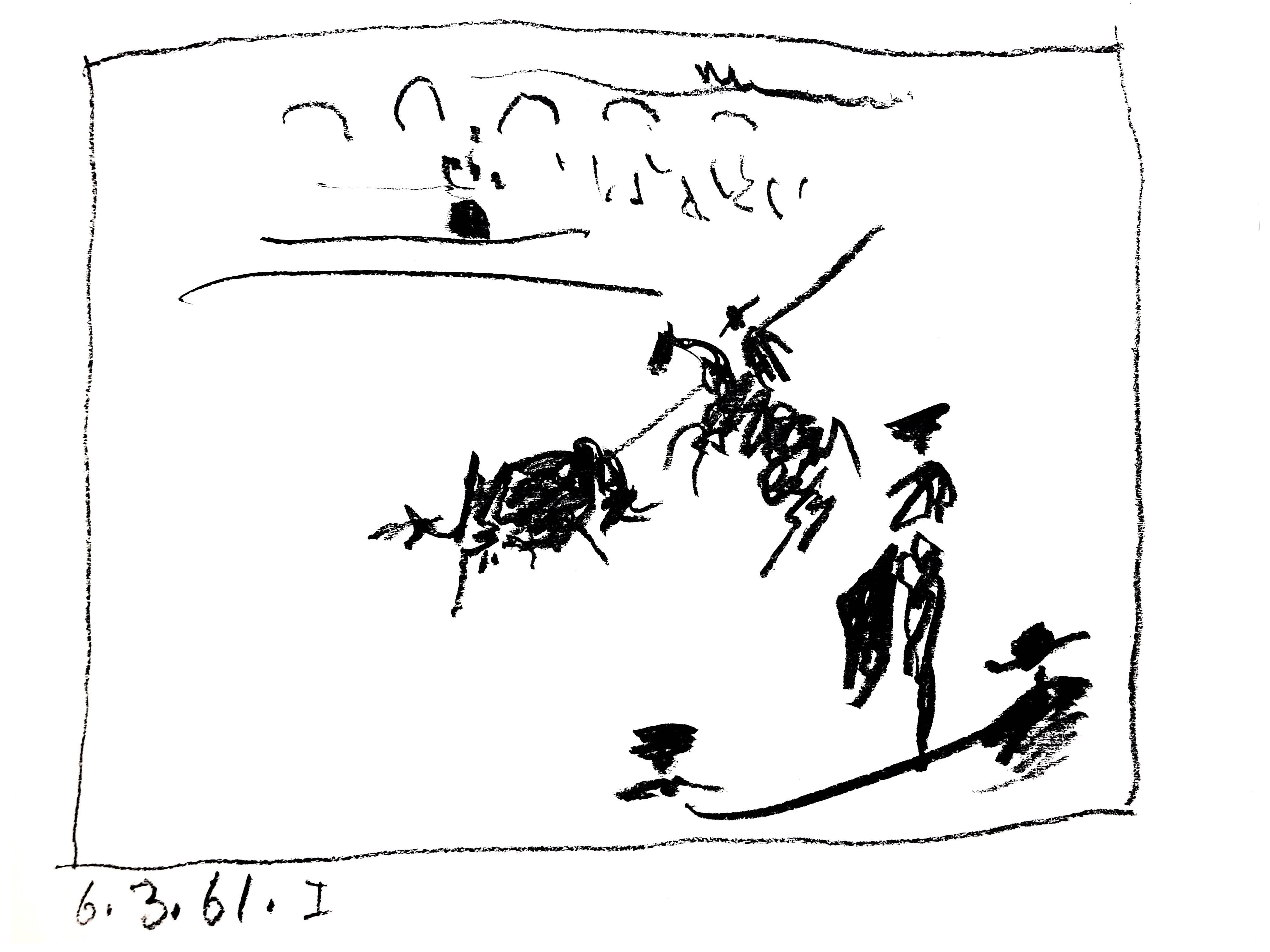 "Pablo Picasso - La Pique, from ""A los Toros avec Picasso""  - Original Lithograph"