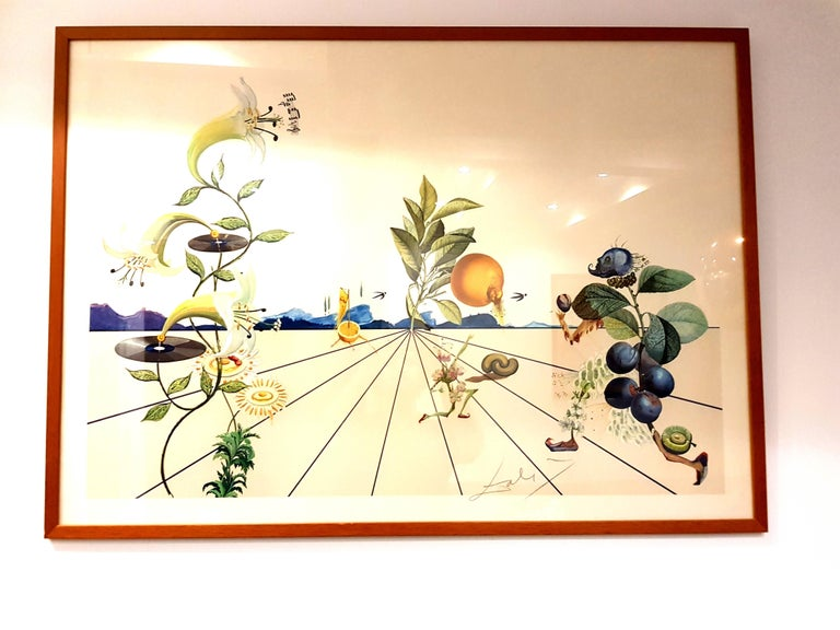 Salvador Dali - Lithograph Title: Flordali I Dimensions: 76 x 106 cm Printed signature Edition of 4880 Reference: Field page 233 / Michler & Lopsinger 1586 The artwork is shipped without the frame in order to protect it.   Salvador Dali  Salvador