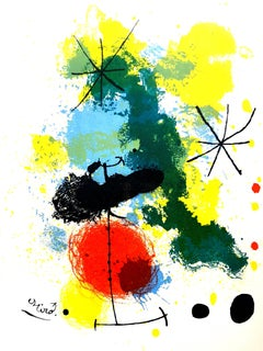 Joan Miro - Life Abstraction - Original Lithograph