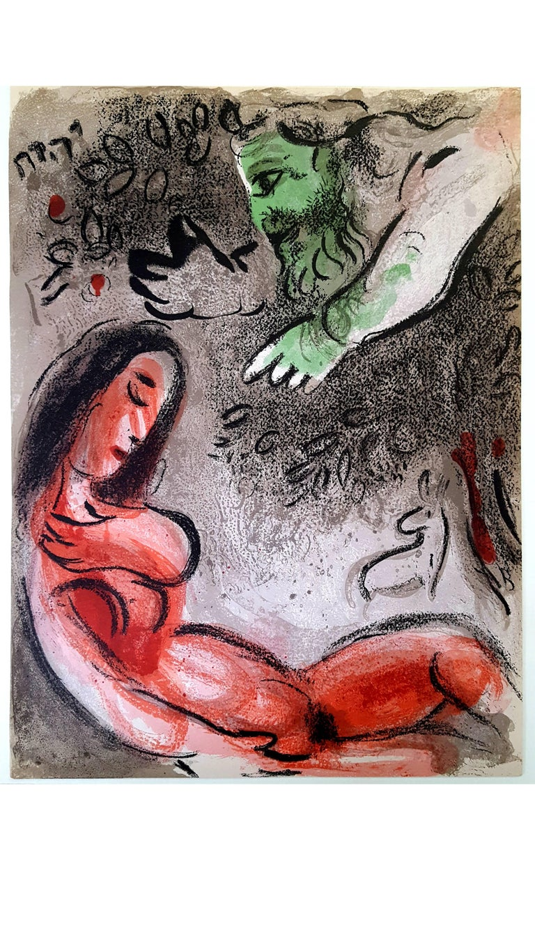 Marc Chagall - The Bible - Eve - Original Lithograph - Print by Marc Chagall