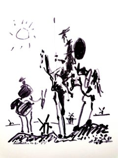 After Pablo Picasso - Don Quixote - Lithograph