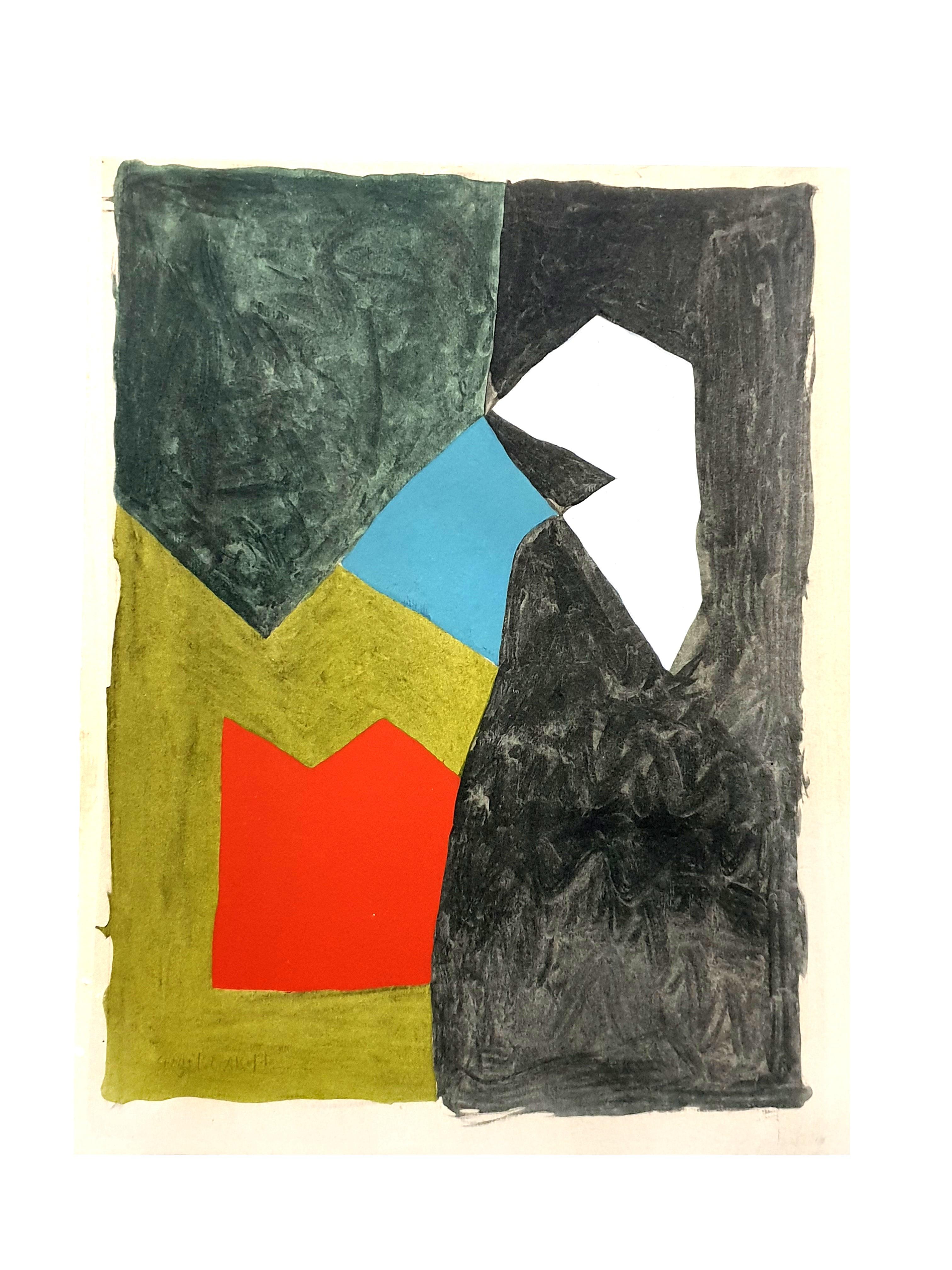 Serge Poliakoff (after) - Composition - Pochoir
