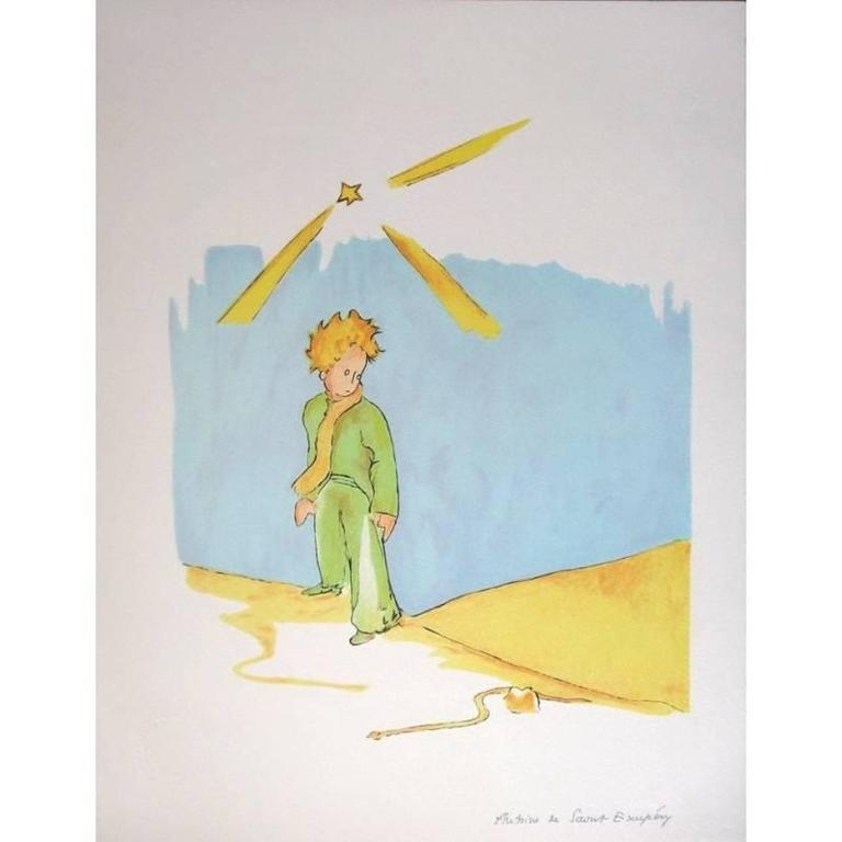 Antoine de Saint Exupery-The Little Prince and the Fox-2015 Lithograph