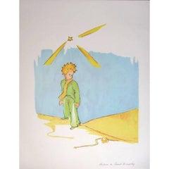 Antoine de saint Exupery - The Little Prince Meeting the Snake- Original Litogra
