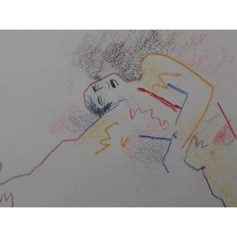 Original Drawing by Jean Cocteau.
