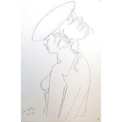 Jean Cocteau - Woman's Profile - Original Lithograph