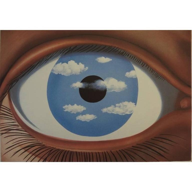 ren magritte ren magritte lithograph le faux miroir ForRene Magritte Le Faux Miroir
