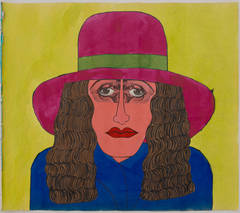 Untitled (Woman in Fuschia Hat with Blue Coat)