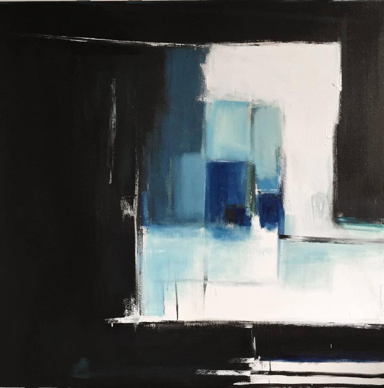 Emilia Dubicki Abstract Painting - Night Fishing #5