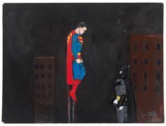 Untitled (Superman Looking Down on Batman)