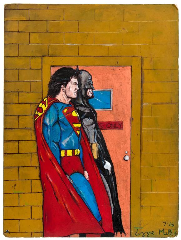 Untitled (Batman Superman Walking)