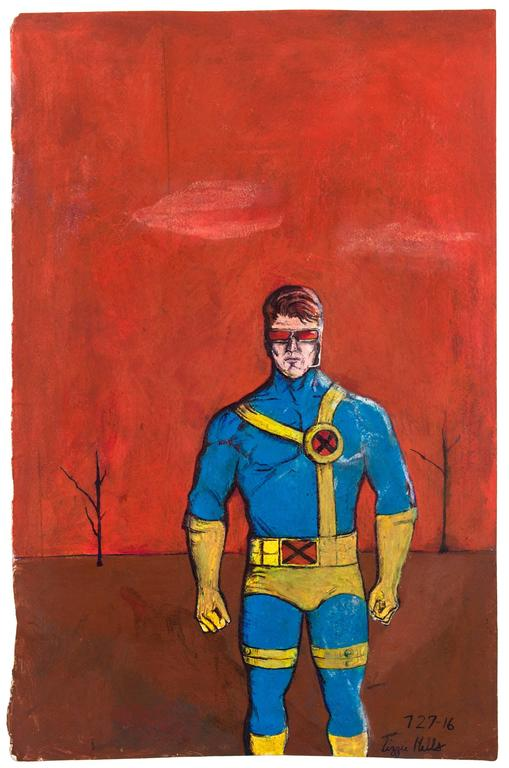 Untitled (Superhero on Orange)