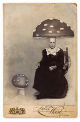 Untitled (Seated Woman with Mushroom Head)