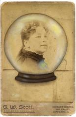 Untitled, Portrait of Woman in Crystal Ball