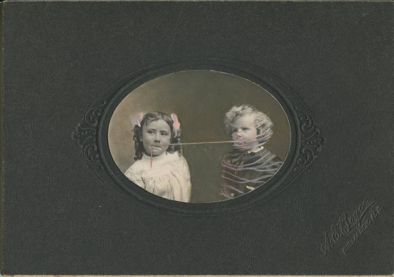 Untitled, Girl with Boy Tied Up in String