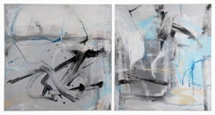 Wind and Waterfall - diptych