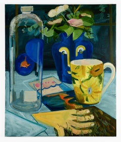 untitled (still life with vase, mug and water bottle)