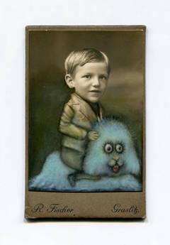 Untitled (Boy and Fluffy Blue Pal)