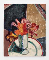 Flowers with White Plate