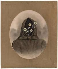 Untitled (Cloaked Figure with Five Eyes)