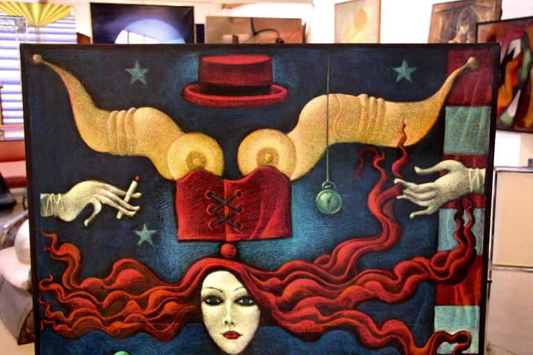 Unitled - Painting by emmanuel Snitkovsky