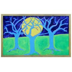"""Woodstock artist Don Denarie outsider art """"Trees"""""""
