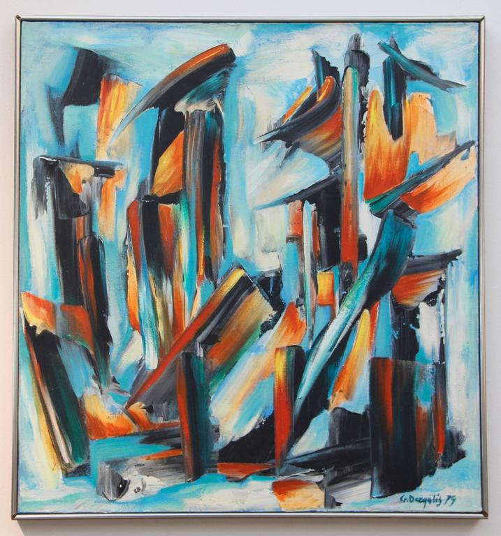 George Dergalis Abstract Painting - untitled