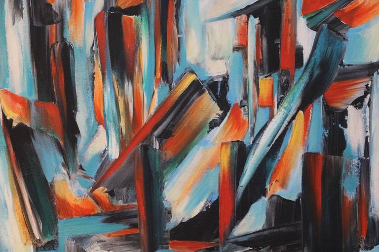 untitled - Painting by George Dergalis