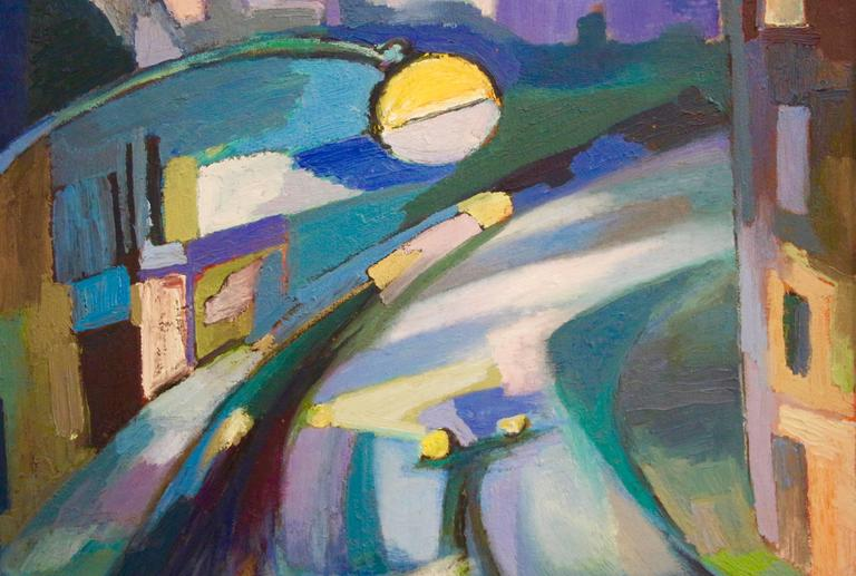 Landscape - Abstract Painting by George Dergalis