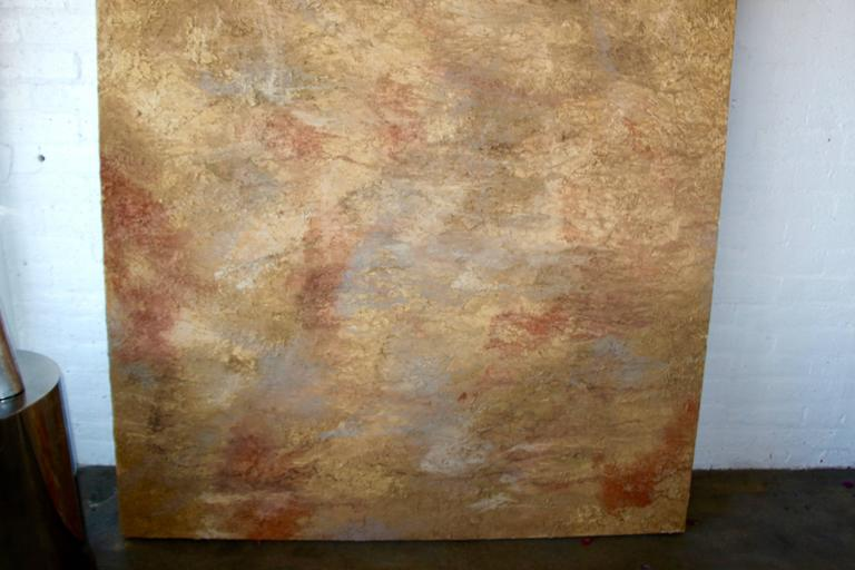 Untited - Brown Abstract Painting by Unknown