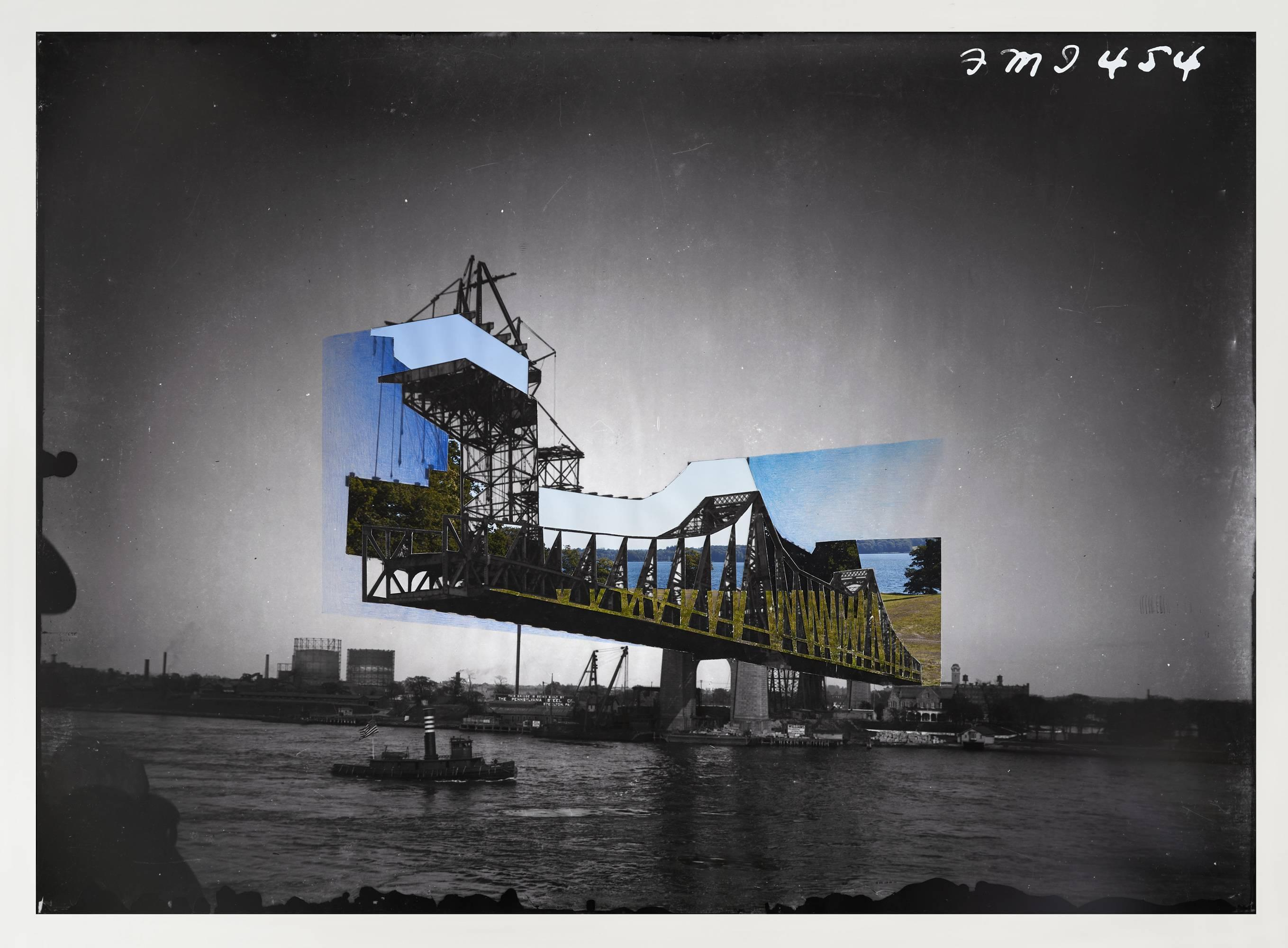 Bridge 3- New York City- Color Pencil on Digital Print