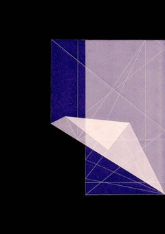 Abstract photography, geometry, black and purple, Untitled (1)