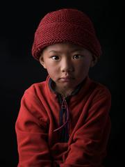 TASHI LAMO, Portrait of Tibetan children