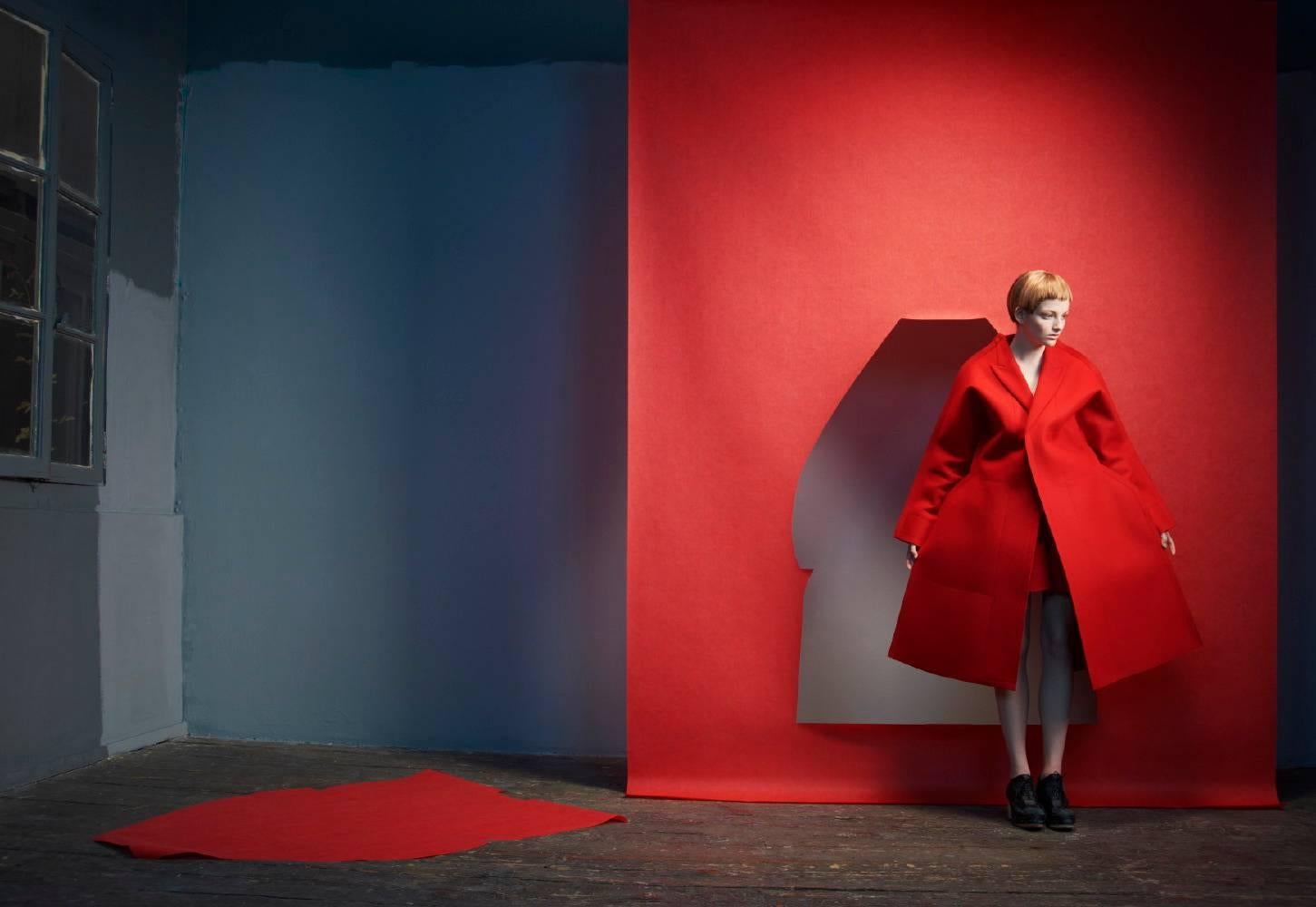 Paper Theater # 1, red, fashion, model