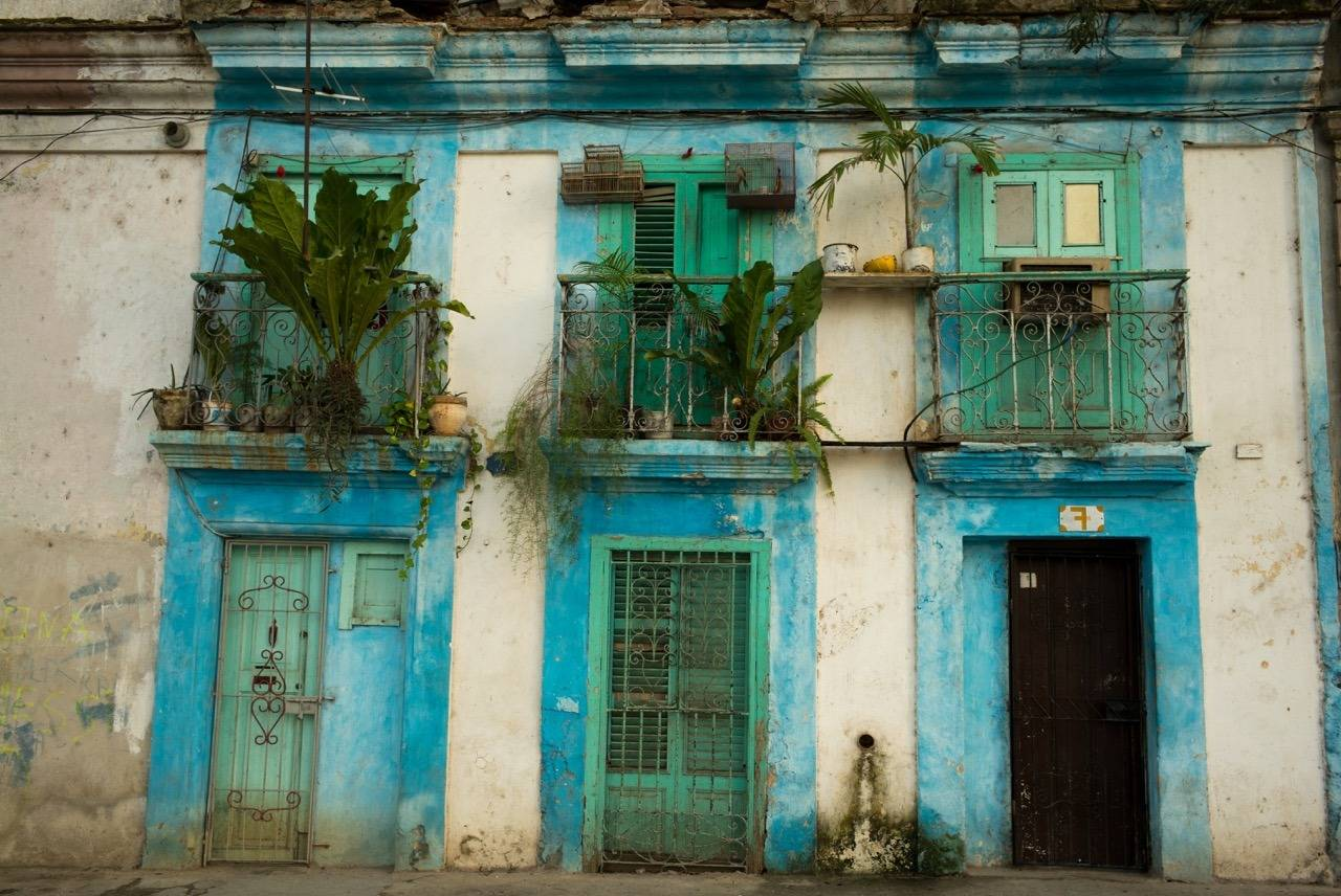 Facade with Blue, Havana