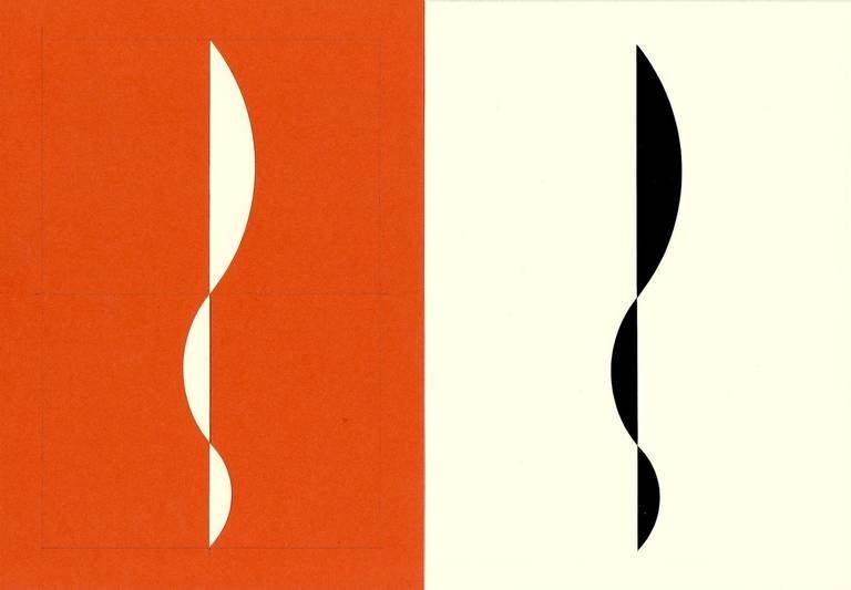 Richard Caldicott Abstract Photograph - Orange, color photogram and paper negative, Untitled #30