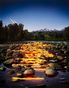 Landscape, mountain, stone, yellow, sun, light, Gros Ventre, 2015