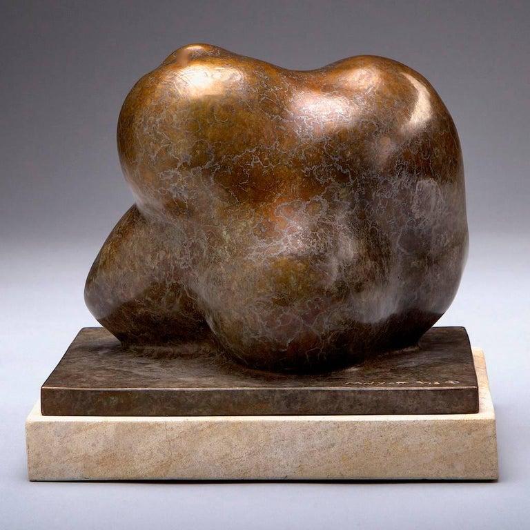 Fatherhood (Gold Patina) - Sculpture by Monica Wyatt