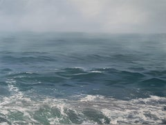"""""""Mist and Swell"""" Waves and Fog in Blues and Greens"""