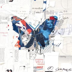 """""""Auto Pilot"""" Collage of Blue and Red Butterfly"""