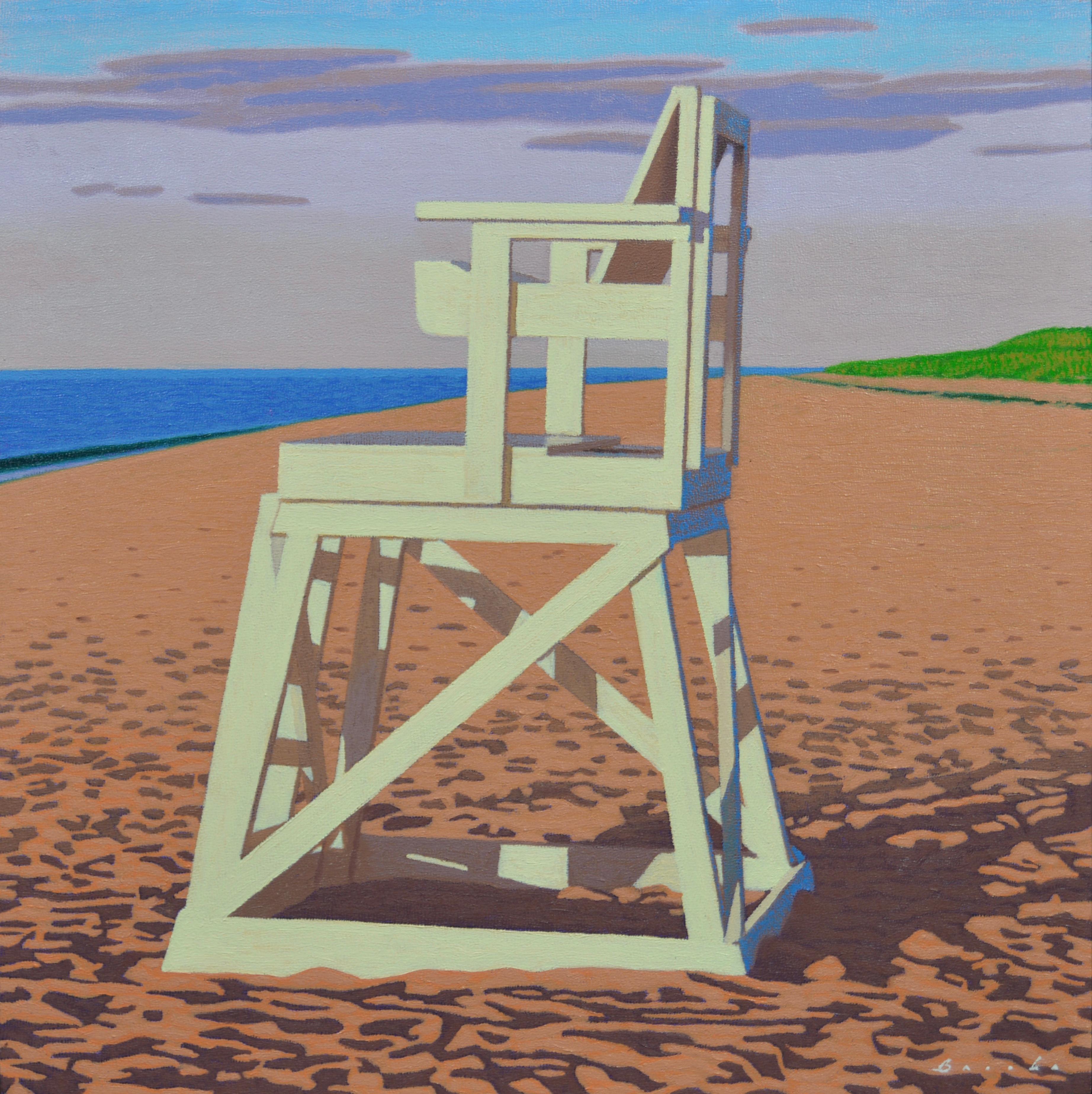 Rob Brooks   Lifeguard Chair, Painting At 1stdibs
