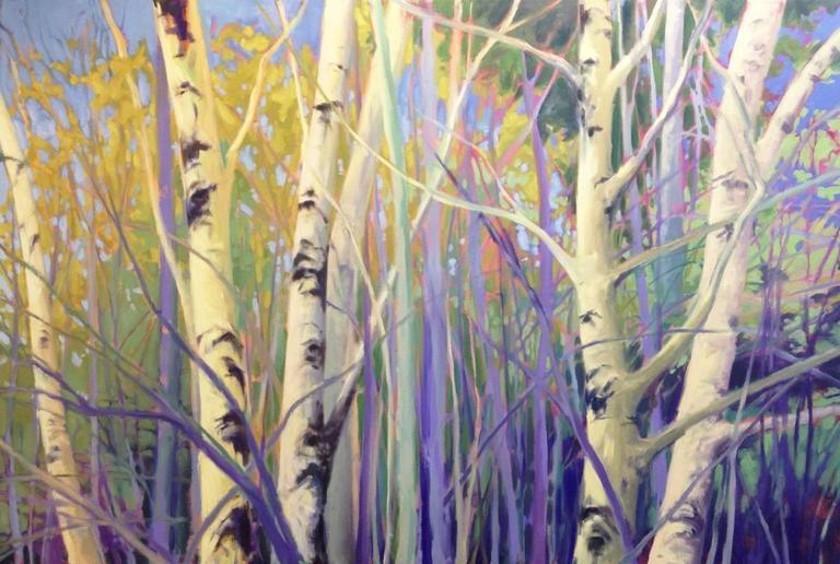 Morning Birches III